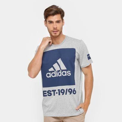 Camiseta Adidas Mc 360 Graus Masculina - Masculino-Cinza