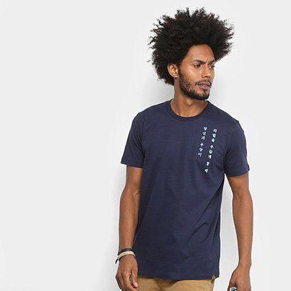 Camiseta Colcci Símbolos Masculina - Masculino-Azul