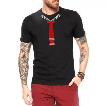 Camiseta Criativa Urbana Gravata Meu Tesouro Engraçadas - Masculino-Preto