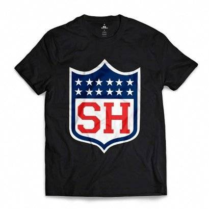 Camiseta Skill Head NFL - Masculino-Preto