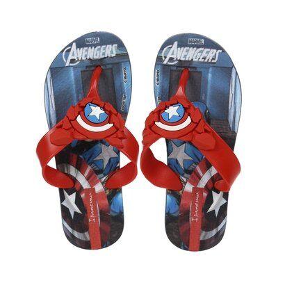 Chinelo Infantil  Avengers Masculino - Masculino-Azul
