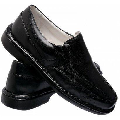 Sapato Conforto  Asa Gofer - Masculino-Preto