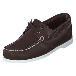 Timberland Cedar Bay Boat Shoe Dk Brown Full Grain, Herre, shoes, brun, EU 43,5