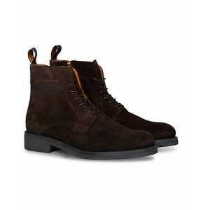GANT Brookly Zip High Lace Boot Dark Brown Suede men 42 Brun
