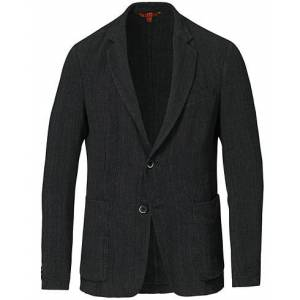 Barena Textured Linen Blazer Black men 46 Grå