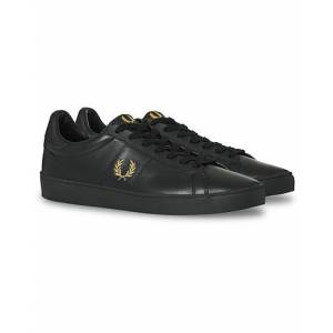 Fred Perry Spencer Leather Sneaker Black/Gold men 40 Sort