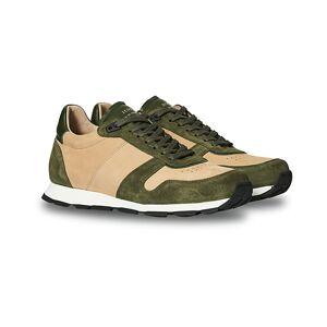 Zespà ZSP6 Nubuck/Suede Runner Sneakers Kaki/Beige men 40 Grøn