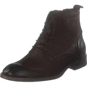 Bianco Biabyron Leather Lace Up Boot Dark Brown, Kengät, Bootsit, Chelsea boots, Ruskea, Miehet, 42