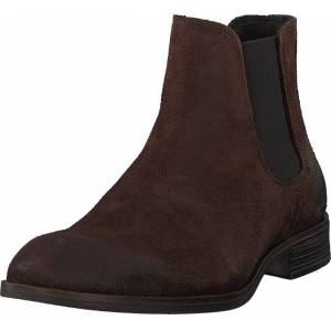 Bianco Biabyron Leather Chelsea Dark Brown, Kengät, Bootsit, Chelsea boots, Ruskea, Miehet, 45