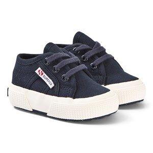 Superga Navy BebeJ Infants Canvas Shoes Lasten kengt 18 (UK 2)
