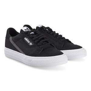 adidas Originals Black Continental Vulc Trainers Lasten kengt 28 (UK 10.5)