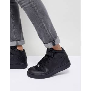 Nike Air Force 1 Mid '07 Trainers In Black 315123-001 - Black