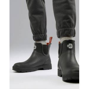 Didriksons 1913 Vinga Rubber Ankle Boot In Black - Black