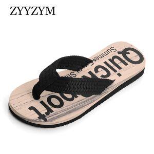 ZYYZYM Flip Flops Men Slippers Summer Letter Grain Outdoor Light Casual Beach Shoes Man Sandals Slipper for Men Indoor Shoes
