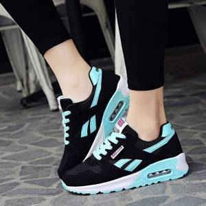 Women Air Cushion Sports Shoes Outdoor Running Lace Up Ladies Shoes Woman Sneakers Tenis Feminino Casual Flats Y636