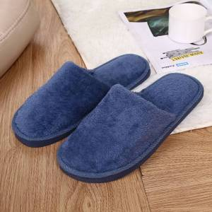 men Warm Cotton Home Slippers Soft Floor Slippers Winter Warm Plush Indoor Slipper men Warm Soft Bottom Shoes hot sale 2020
