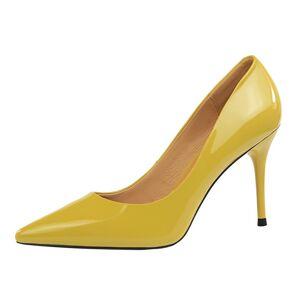 D Henlu  2018 New Basic Women Pumps Sexy Pointed Toe Thin Heel High Heels  Glossi e44c32ae2ca5