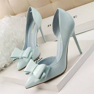 077404a297 Se TILBUD på Newchic 9.5 cm Hollow Out Buckle Pointed Toe European ...