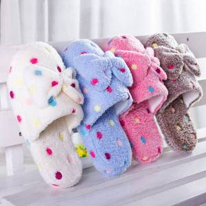 b988a6d8b5ee Women Shoes Winter Slippers Furry Fluffy Slippers Butterfly-knot Ladies  Slides Home Shoes Indoor Warm