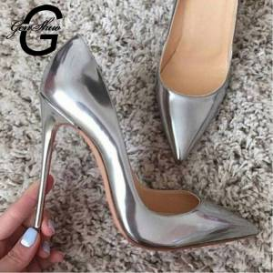... Pointed Toe 10 12cm. kr 214.31 kr 306.16. GENSHUO Women Pumps High Heels  Silver Sexy High Heels Shoes for Women Stilettos Fashion Luxury Wedding a1079946340a