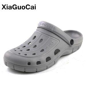 2020 Summer Men's Clogs Quick Dry Casual Home Slippers Male Garden Shoes Cheap Beach Sandals Mules Antiskid Bathroom Slipper