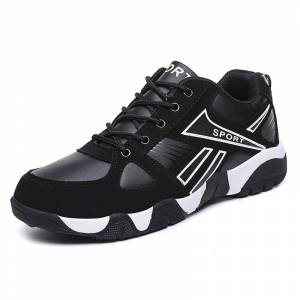 Men's Casual Sports Shoes Large Size Fashion Couple Shoes Leather Fabric Man Footwear 2019 New Men's Non-slip Running Shoes