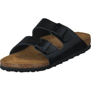 Birkenstock Arizona Slim Leather Black, Sko, Sandaler og Tøfler, Sandaler, Brun, Grå, Unisex, 39