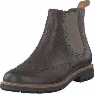 Clarks Batcombe Top Taupe Leather, Sko, Boots, Chelsea boots, Grå, Herre, 44