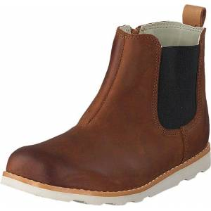 Clarks Crown Halo T Tan Leather, Sko, Boots, Chelsea boots, Brun, Barn, 24