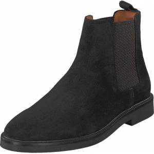 Bianco Biachain Leather Chelsea Black, Sko, Boots, Chelsea boots, Svart, Herre, 43