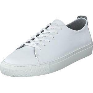 Bianco Biaajay Leather Sneaker 800 White, Sko, Sneakers og Treningssko, Lave Sneakers, Hvit, Herre, 43