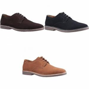 Hush Puppies Hysj Valper Herre Archie Blonder Opp Skinn Sko Brown 6 UK