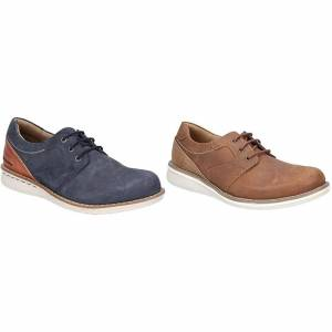 Hush Puppies Hush valper mens Chase casual Lace up skinn sko Navy/brun 6 UK