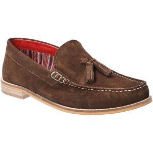 Base London Mens Tempus Slip On Suede Leather Loafer Shoes Brown UK...