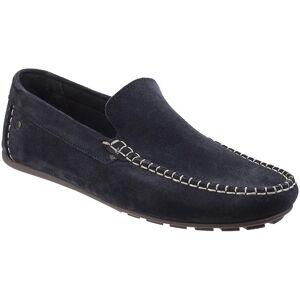 Base London Mens Henton semsket skinn klassiske Moccasin Loather sko