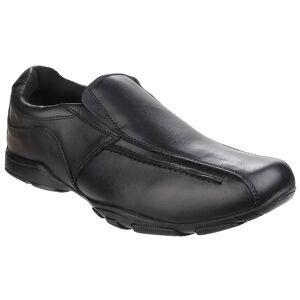Hush Puppies Hush valper Childrens Boys skreddersydd senior tilbake til skolen skinn sko Svart 4 UK Junior