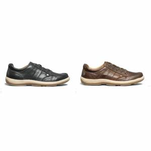 Hush Puppies Hush valper Mens Vizla blonder skinn trenere Marinen 10 UK