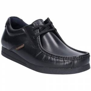 Base London Mens Event Waxy Lace Up Leather Smart Shoes Black UK Si...