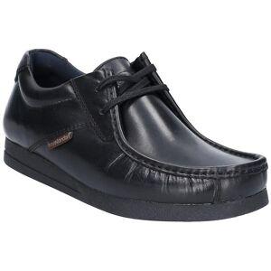Base London menns hendelse voksaktig Lace up skinn smart sko Svart ...