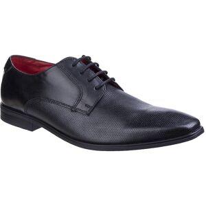 Base London Mens Charles voksaktig Lær Smart Casual Derby sko Brown...