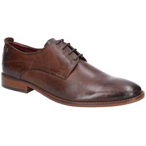 Base London Mens Script Washed Lace Up Leather Shoes Navy UK Size 7...