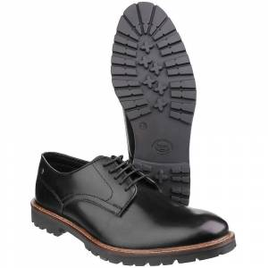 Base London Mens Barrage Lace up Derby Casual Leather Shoes Black U...