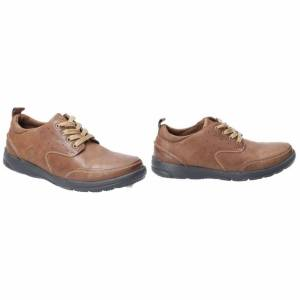 Hush Puppies Hush valper menns Apollo Lace up skinn sko Brown 12 UK