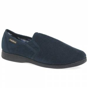Goodyear Mallory Mens Full Slippers Navy 7 / 41