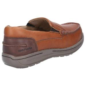 Hush Puppies Hush valper mens Murphy Victory Moccasin sko Tan 6 UK