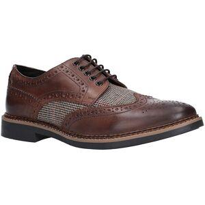 Base London Mens Rothko voksaktig Tweed aksent Oxford sko BROWN 11