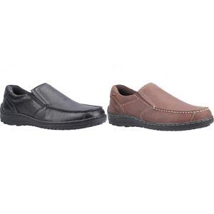 Hush Puppies Hush Valper Mens Thomas Leather Loafer Brown 6 UK