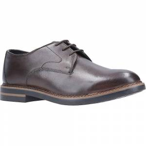 Base London Mens Wayne Leather Lace Up Oxford Derby Shoes Cocoa UK ...