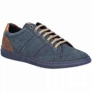 Base London Mens Rubix Softy Lace Up Suede Casual Trainers Navy 10