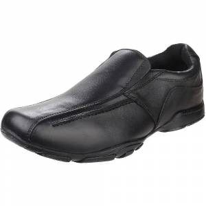 Hush Puppies Hush valper Childrens Boys skreddersydd senior tilbake til skolen skinn sko Svart 3 UK Junior